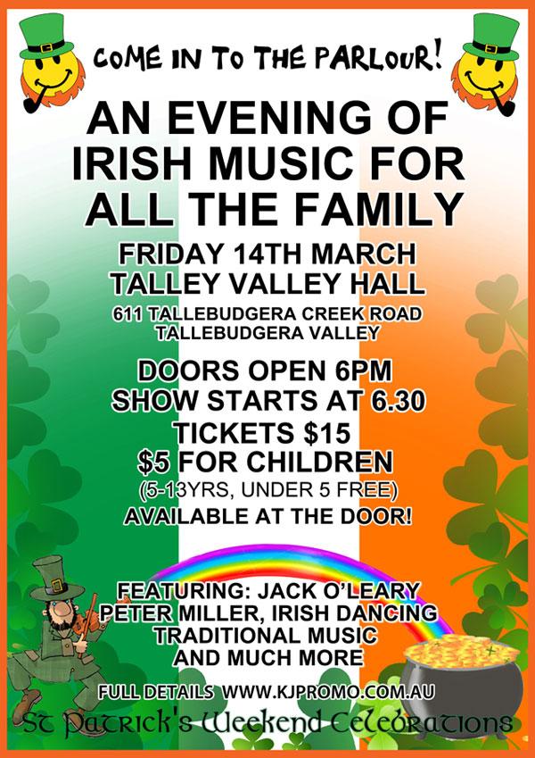 St Patrick Music